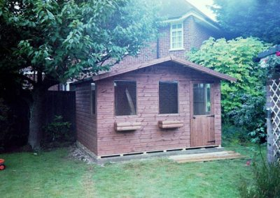 Chalet style timber garden building